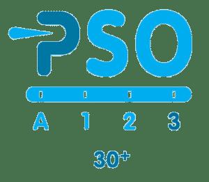 Het logo van PSO voor sociale ondernemers