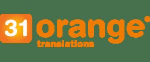 Het logo van 31 orange