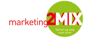 Het logo van marketing2mix