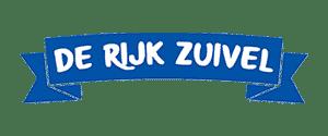 De banner van het logo van het bedrijf de rijk zuivel