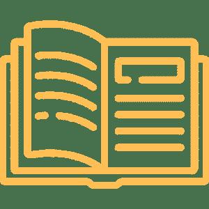 Open book geel